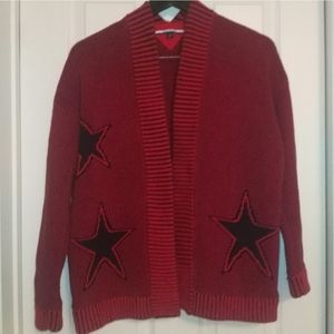 Tommy Hilfiger open front star cardigan